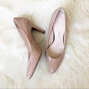 FRANCO SARTO tan heel shoes size 7.5
